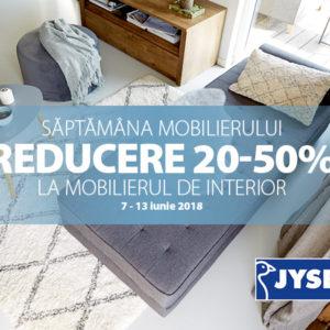 Saptamana Mobilierului la JYSK