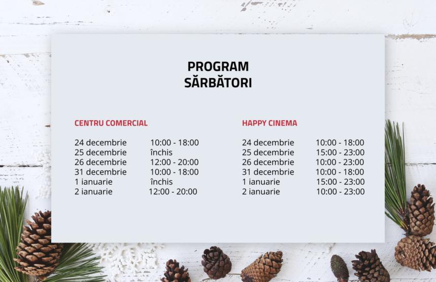 Program sărbători 2019